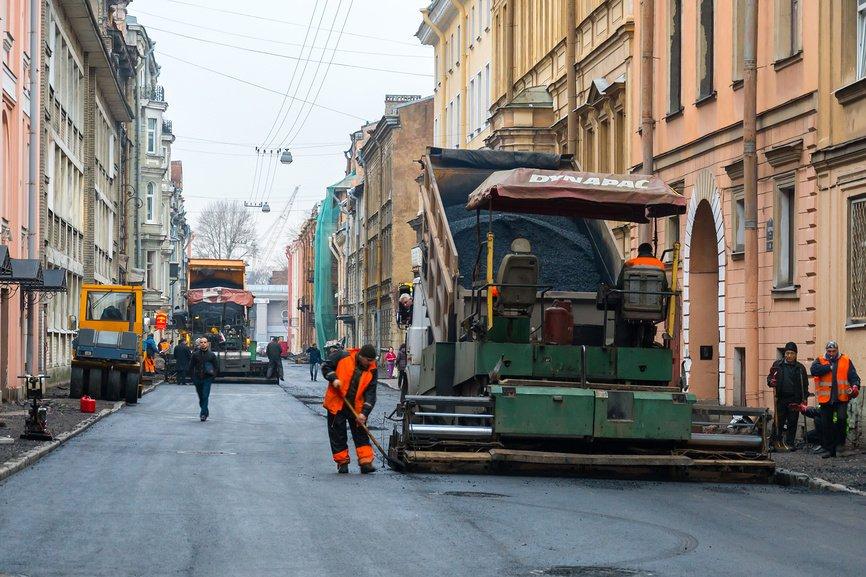 ремонт дорог в Санкт-Петербурге
