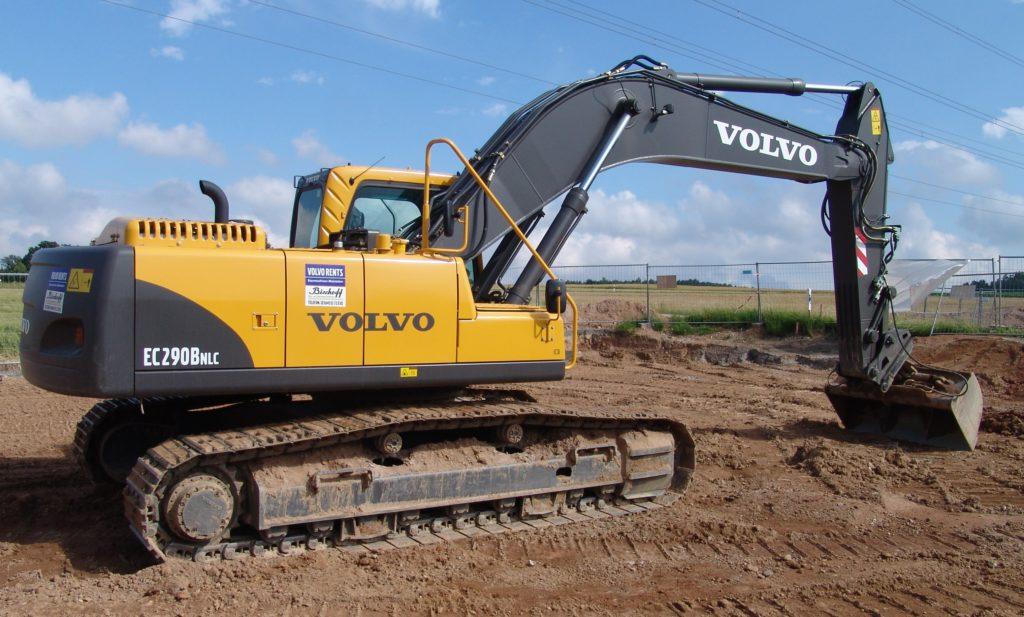 Аренда экскаватора гусеничного типа Volvo EC290
